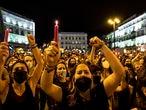 DVD 1057  (11/06/21)Manifestación en contra de la violencia machista en la Puerta del Sol, esta noche.David Expósito