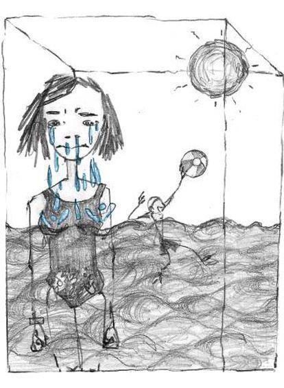 Ilustración de Manonelles para 'Duermo mucho'.