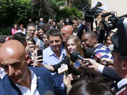 Renzi, en el Festival de la Economía de Trento el 1 de junio.