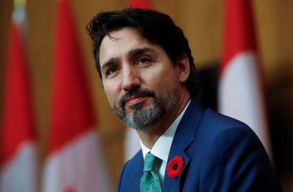 El primer ministro de Canadá, Justin Trudeau, durante una rueda de prensa celebrada en Ottawa, Canadá, el 6 de noviembre de 2020.