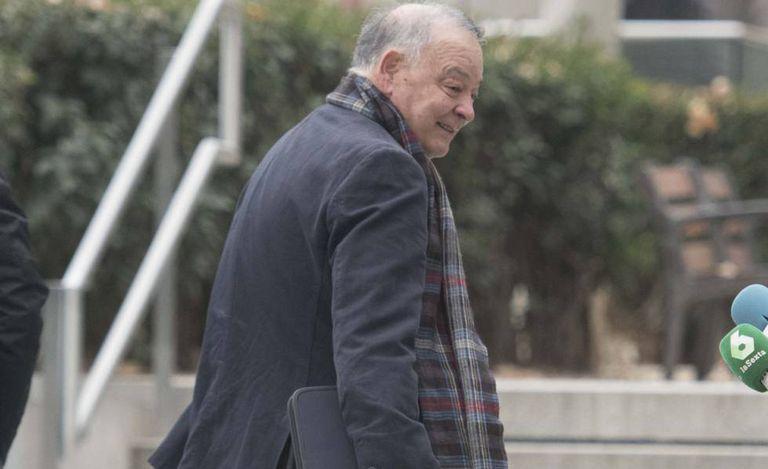 El comisario Eugenio Pino, a su llegada de la Audiencia Nacional en enero de 2019.