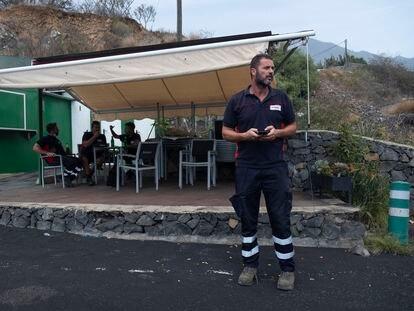 Diego Martín, vecino de La Palma afectado por la erupción del volcán, en El Paso.