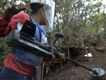 Búsqueda de minas en el departamento de Antioquia.