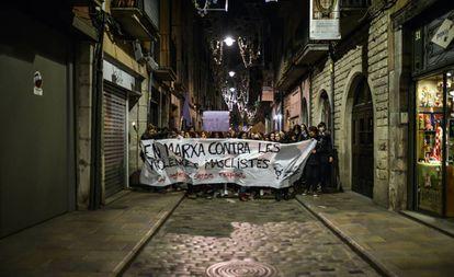 Marcha contra la violencia de género, el 25 de noviembre de 2019 en Girona.