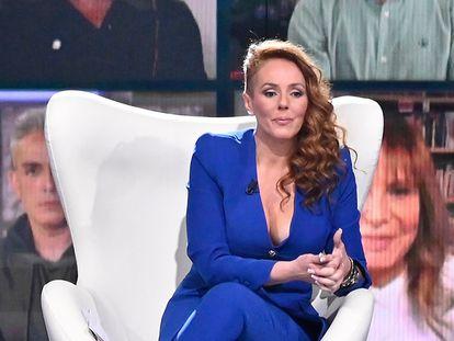 Rocío Carrasco, durante una de las entrevistas que ha mantenido en Telecinco con motivo del documental 'Rocío, contar la verdad para seguir viva'.