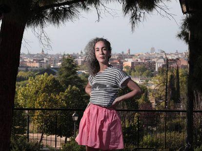 Cuqui Jerez, una de las creadoras de 'The Rehearsal', en el Parque de Enrique Tierno Galván.