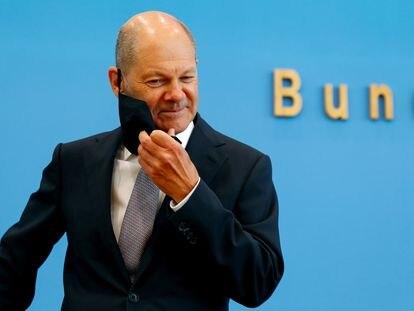 El ministro de Finanzas alemán, Olaf Scholz, en la presentacón de los presupuestos alemanes el pasado otoño.