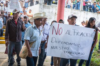 Una de las protestas para reivindicar una consulta ciudadana.