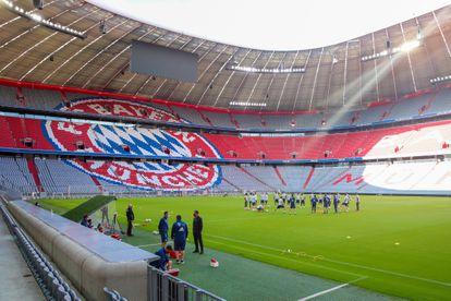 Último entrenamiento del Bayern, este jueves en su estadio.