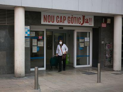 El CAP Gòtic en la plaza Joaquim Xirau, en el Raval.