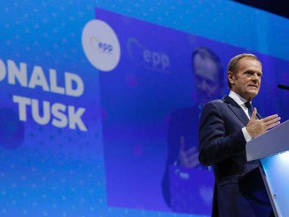 Donald Tusk durante el congreso del PPE en Zagreb, Croacia. En vídeo, sus declaraciones.