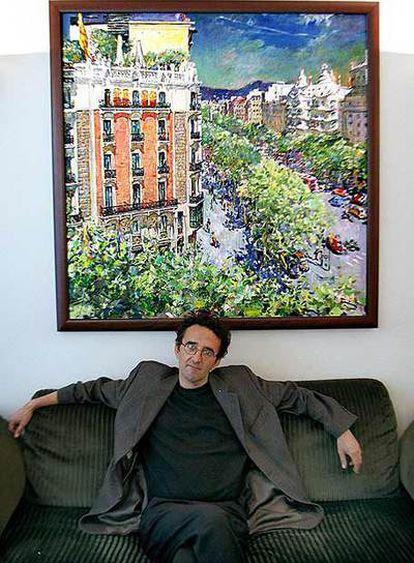 Roberto Bolaño, fotografiado en Barcelona en 2001.