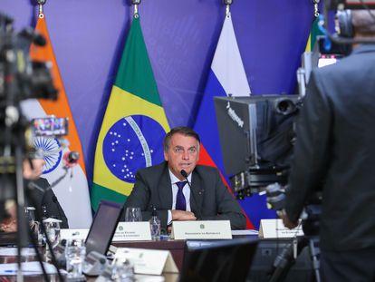 Bolsonaro se prepara para participar en una cumbre virtual con sus homólogos de los BRICS este jueves en Brasilia.