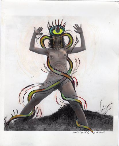 'Write By The Tail/Bite The Tail/I Bite/Belly Snakes' de la serie 'The Woman Rising', (1973).