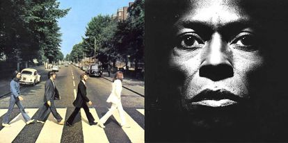 Portadas de 'Abbey Road' (izquierda), realizada por Ian McMillan, y de 'Tutu', obra de Irving Penn.