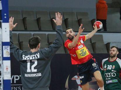 España se enfrentaba a Hungría en el partido del pasado 25 de enero.