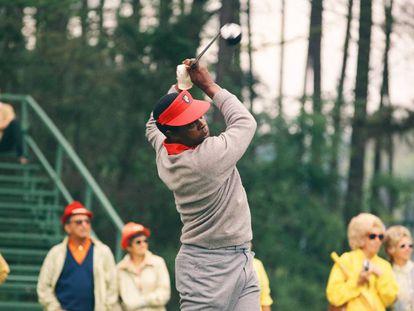 Lee Elder, en el Masters de 1975.