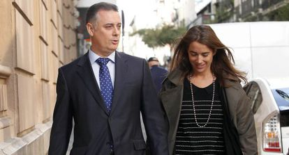 El exconsejero de Deportes de la Comunidad de Madrid, Alberto López Viejo, llega a la Audiencia Nacional.
