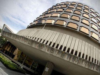 Fachada de la sede del Tribunal Constitucional, en la calle de Doménico Scarlatti de Madrid.