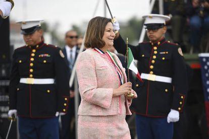Embajadora Martha Bárcenas, en una foto en sus redes sociales.