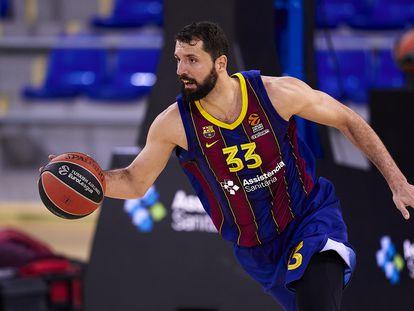 Nikola Mirotic, durante un partido de la Euroliga, contra el Baskonia el 5 de marzo. PEDRO SALADO (GETTY)