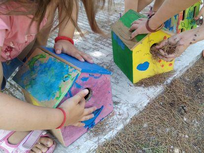 Actividad de los talleres de Educar en paisaje.