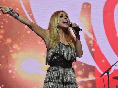 Marta Sánchez durante un concierto en Madrid el pasado mes de marzo.