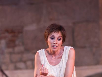 Ana Belén en 2012 el Teatro Romano de Mérida, interpretando a Electra en el montaje de José Carlos Plaza.