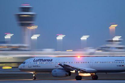 Un AirbusA321-200 de Lufthansa en el aeropuerto de Munich en febrero de 2014