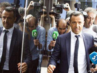 El agente de futbolistas Jorge Mendes a su llegada a un juzgado de Madrid.