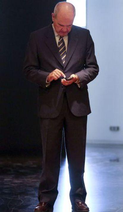 Manuel Chaves, este martes en el Congreso.
