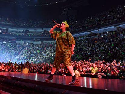 Billie Eilish en un concierto a principios de 2020 en Miami.