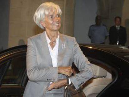 En la imagen, ala presidenta del Fondo Monetario Internacional (FMI), Christine Lagarde, en el Palacio presidencial de Nicosia, Chipre. EFE/Archivo