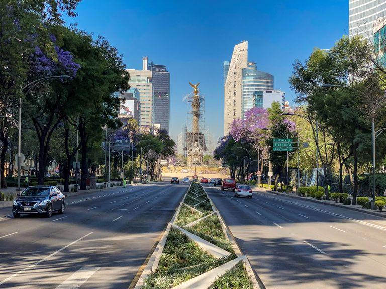 La Avenida Paseo de la Reforma, en Ciudad de México, el pasado 29 de mayo.
