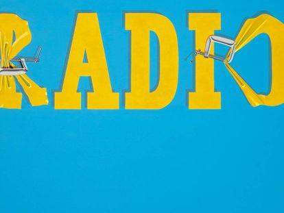 'Hurting the Word Radio #2', de Ed Ruscha, vendida en Christie's por 52,2 millones de dólares.