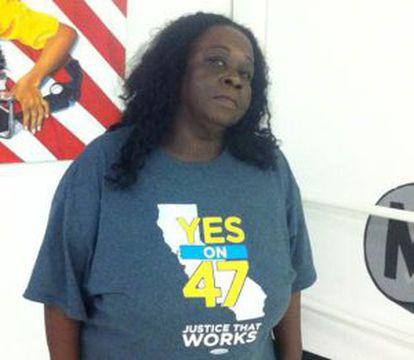 Charsleen Poe, el pasado martes en un centro social de Watts, Los Ángeles.