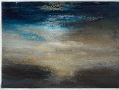 'Horizontes luminosos' (2020), de Alberto Reguera, una de las obras de su serie que se expone en el Museo Thyssen.