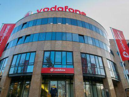 Sede de Vodafone en Berlín, el pasado jueves.
