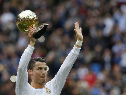 Cristiano Ronaldo recibe su tercer Balón de Oro en 2014
