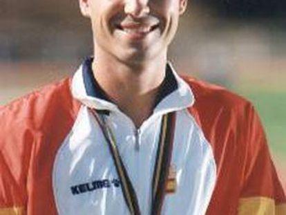 Juan Carlos Holgado, con la medalla de oro.