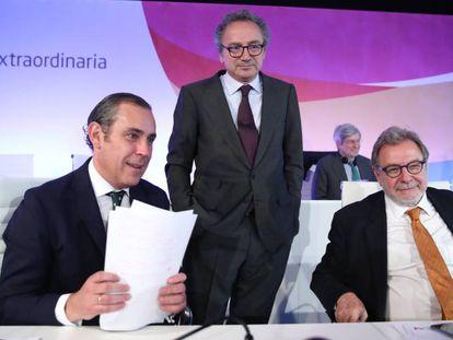 Manuel Mirat, consejero delegado de PRISA y Juan Luis Cebrián, presidente de PRISA.