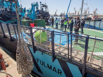 Los 1.000 kilos de cocaína decomisados por la policía, que pertenecían a una red de narcotráfico liderada por un exmiembro de la Royal Navy británica asentado en Cádiz.