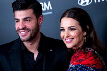 Paula Echevarría y Miguel Torres en un evento en Madrid en diciembre de 2019.