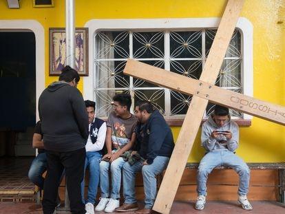 Integrantes del elenco que personificará este año la Semana Santa en Iztapalapa, Ciudad de México.
