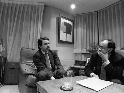 Jesús Ceberio entrevista a José María Aznar en 1996.