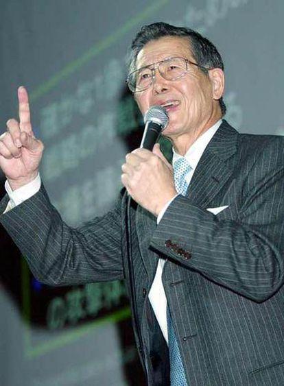Alberto Fujimori, en un acto público durante su estancia en Tokio en 2003.