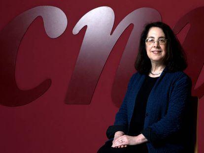 La patóloga estadounidense Arlene Sharpe, después de la entrevista.