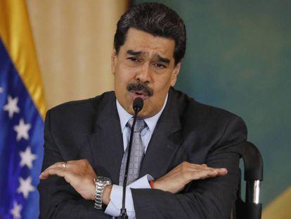 Nicolás Maduro, en una conferencia de prensa en Caracas. En vídeo, el presidente de Venezuela habla ante los medios sobre el asiento obtenido en el Consejo de Derechos Humanos de la ONU