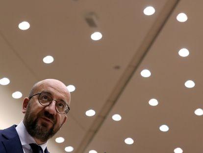 El presidente del Consejo Europeo, Charles Michel, el pasado 8 de julio, en Bruselas.