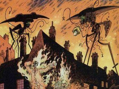 Londres es invadida por alienígenas en el cómic 'La liga de los hombres extraordinarios', de Alan Moore y Kevin O'Neill, que adaptaba 'La guerra de los mundos', de H. G. Wells.